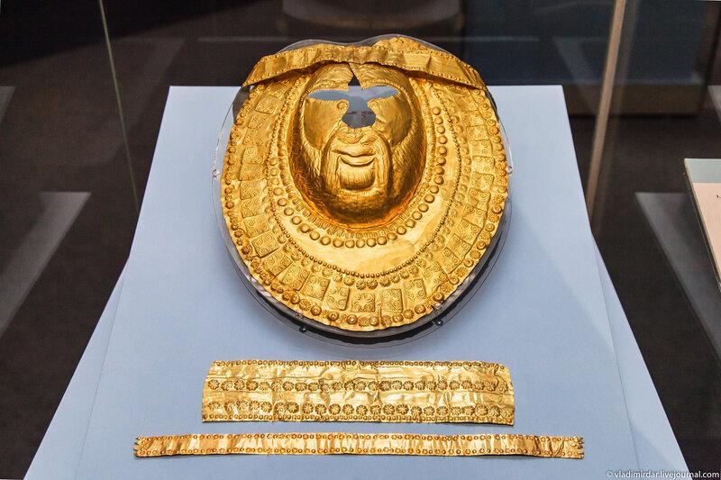 Погребальная ритуальная золотая маска
