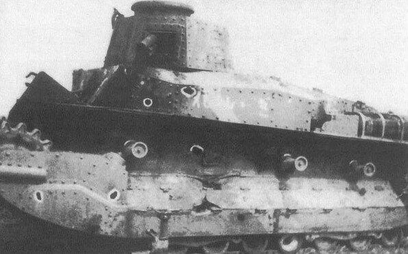 Танк тип 89 адъютанта командира 3-го танкового полка капитана Кога, подбитый 3 июля 1939 года на Халхин-Голе.