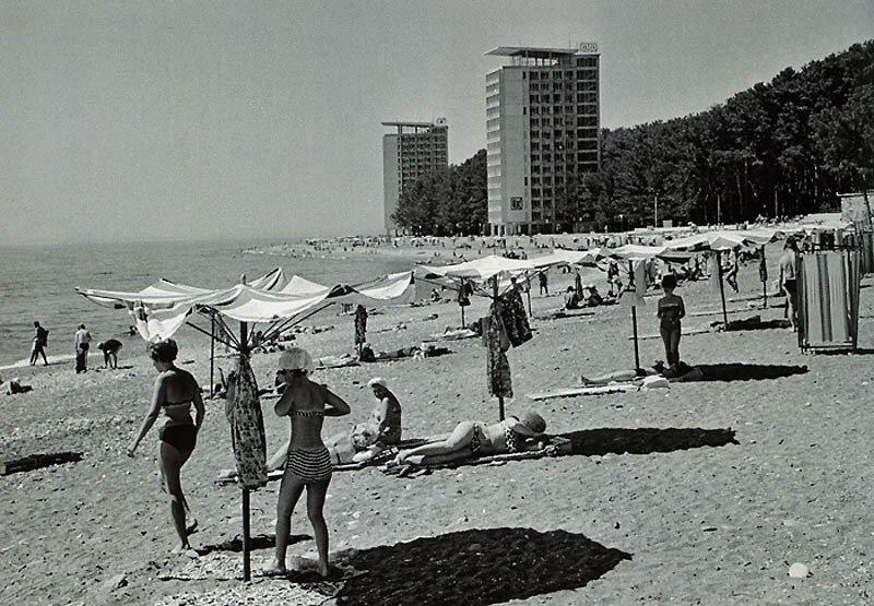 On the beach Pitsunda  V.Egorov, 1968