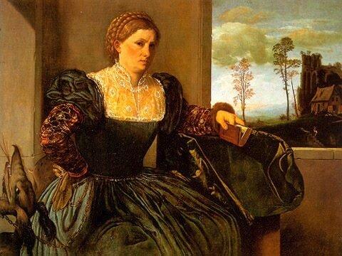 «Женский портрет», 1525, Джованни Джироламо Савольдо,(ок. 1480-1485 – после 1548)