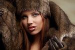 woman in winter scenery