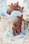 Gingerbread reindeers cookies