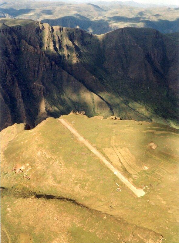 Взлетно–посадочная полоса в Лесото