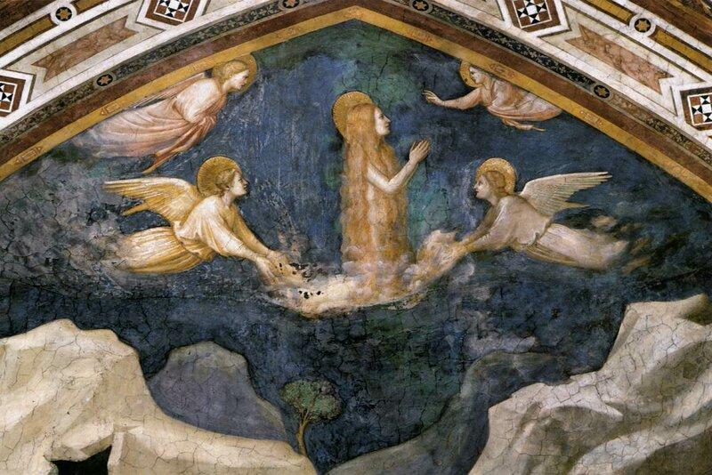 23.Душа Марии магдалины возносится ангелами (ок.1320).jpg