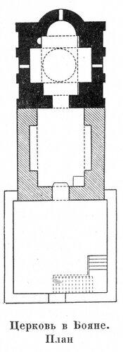 Боянская церковь , план