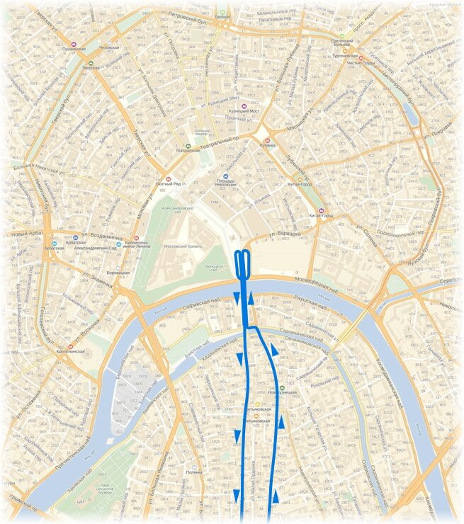 маршрут троллейбуса №8