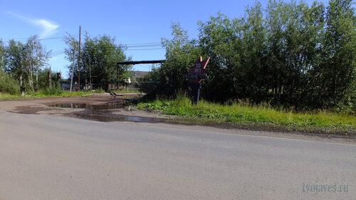Фотография Инты №5491  Поворот на Восточную 1, восточнее главного въезда 06.08.2013_13:20