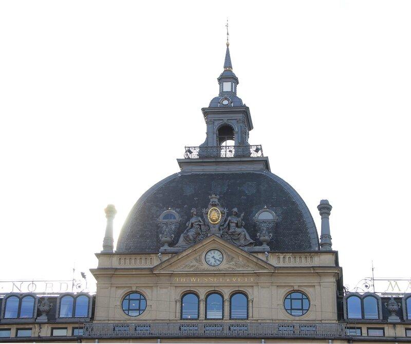 Копенгаген, площадь Конгенс  Ниторв. Copenhagen, Kongens Nytorv, King's New Square. Магазин дю Нор. Magasin du Nord