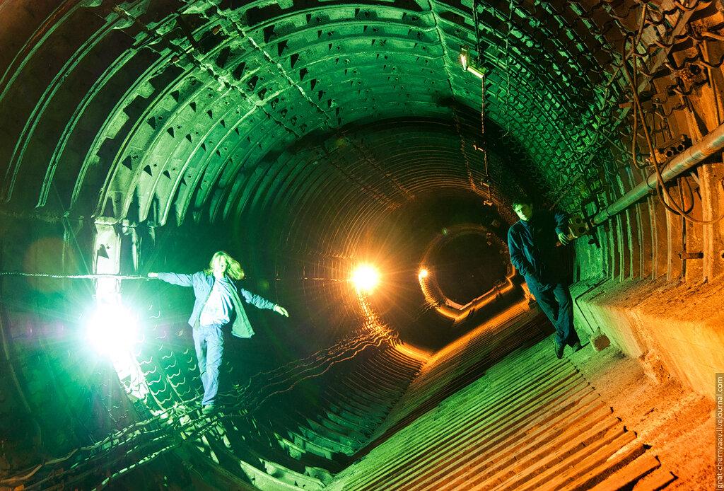 размыв заброшенный тоннель метро