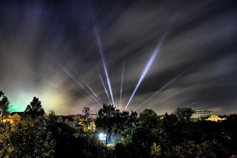 Ночное небо, яркие лучи и овраг Засора IMG_7744_hdr