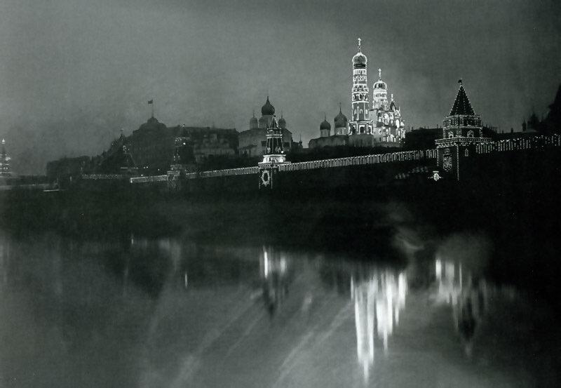 1896. Иллюминация в Кремле по случаю коронации Николая Второго