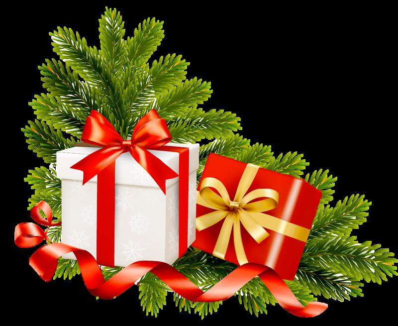 Новогодние подарки в png