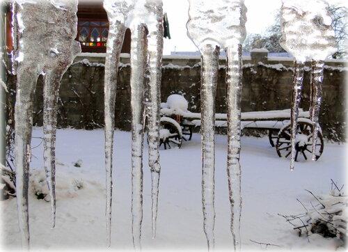 Ледяные жалюзи.