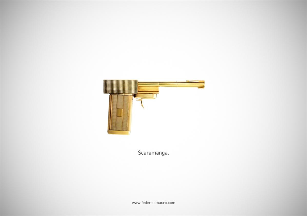Знаменитые пушки - оружие культовых персонажей / Famous Guns by Federico Mauro - Scaramanga (007)