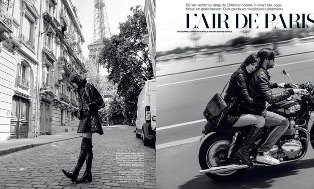 Прогулка по Парижу с Евой Долл / Eva Doll by Dennison Bertram in Marie Claire Netherlands november 2013