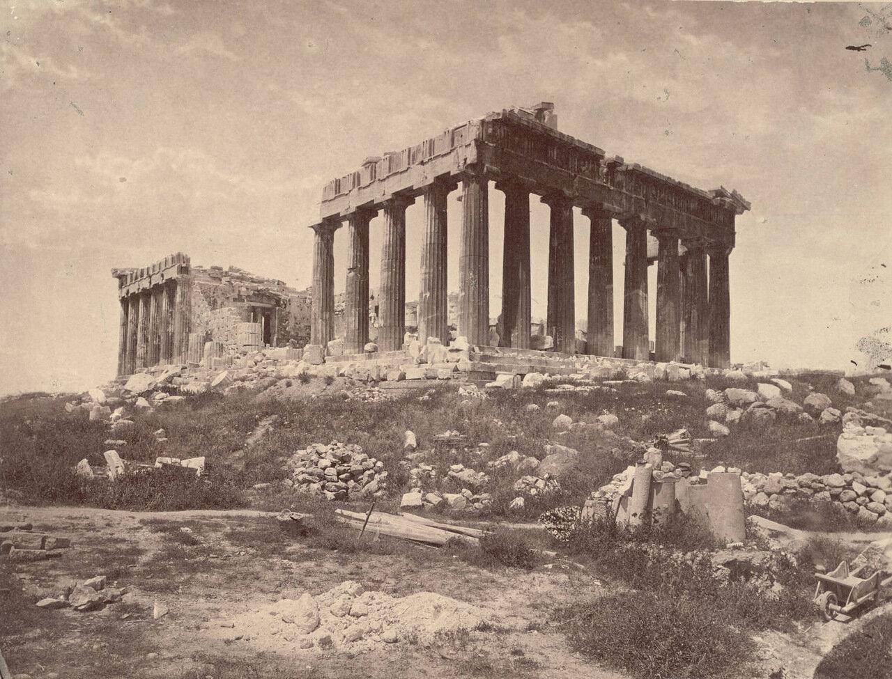 Вид Парфенона с юго-востока. 1889