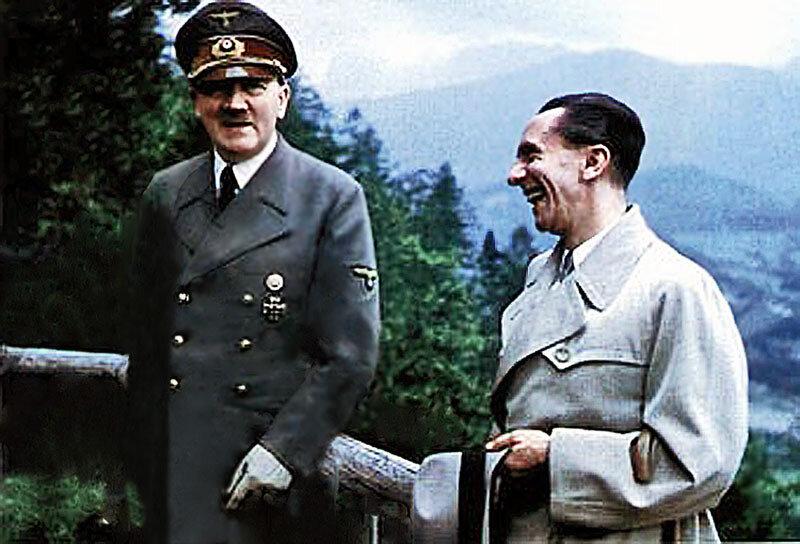 Адольф Гитлер и Йозеф Геббельс заливаются здоровым нацистским смехом