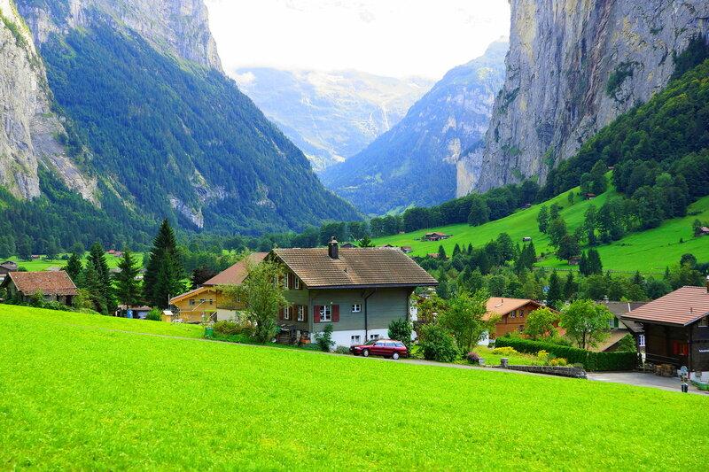 Деревушка в Альпах