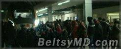 Скандал на ж/д вокзале: десятки людей заблокировали пути