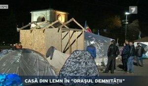 Ради протеста люди в Молдове готовы ночевать на площади зимой