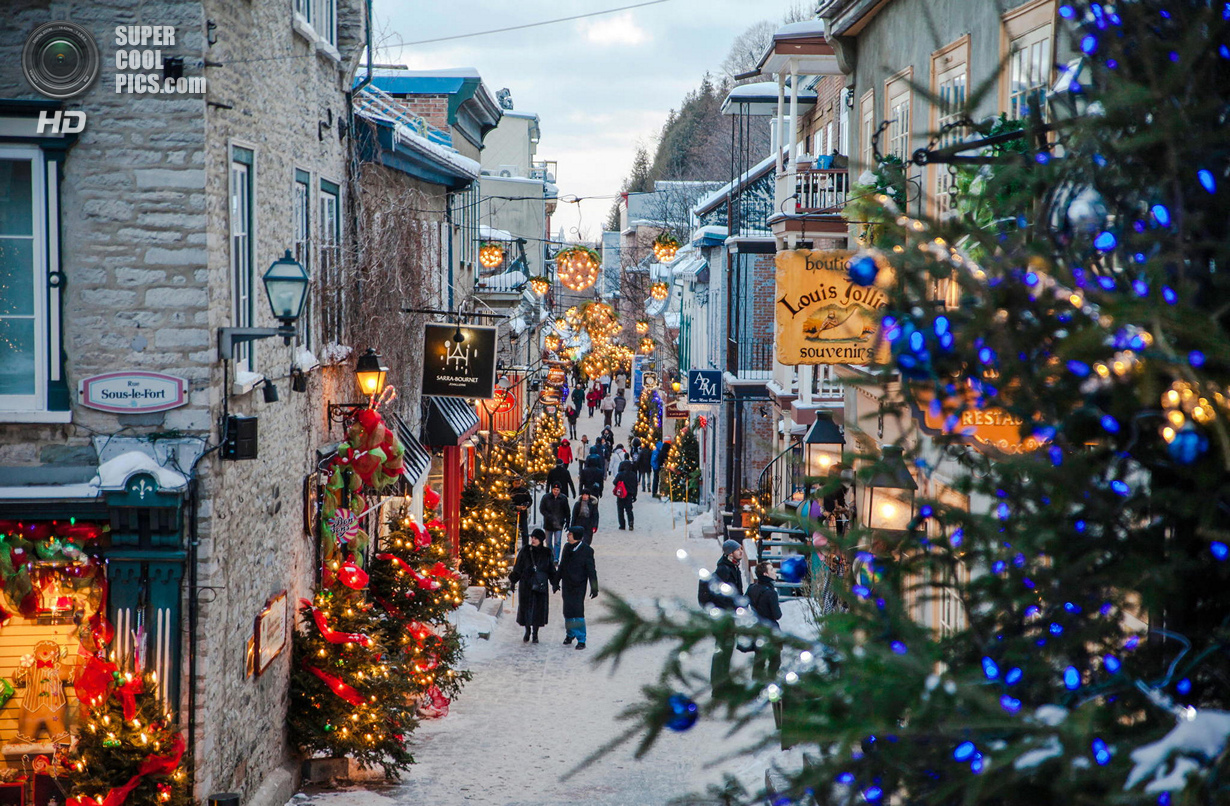 Old Quebec City during Christmas time