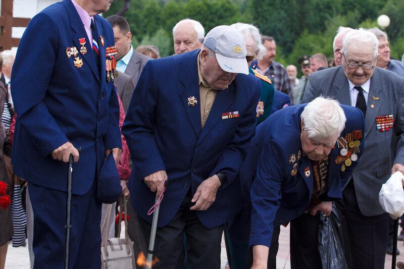 Открытие памятника  Неизвестному солдату