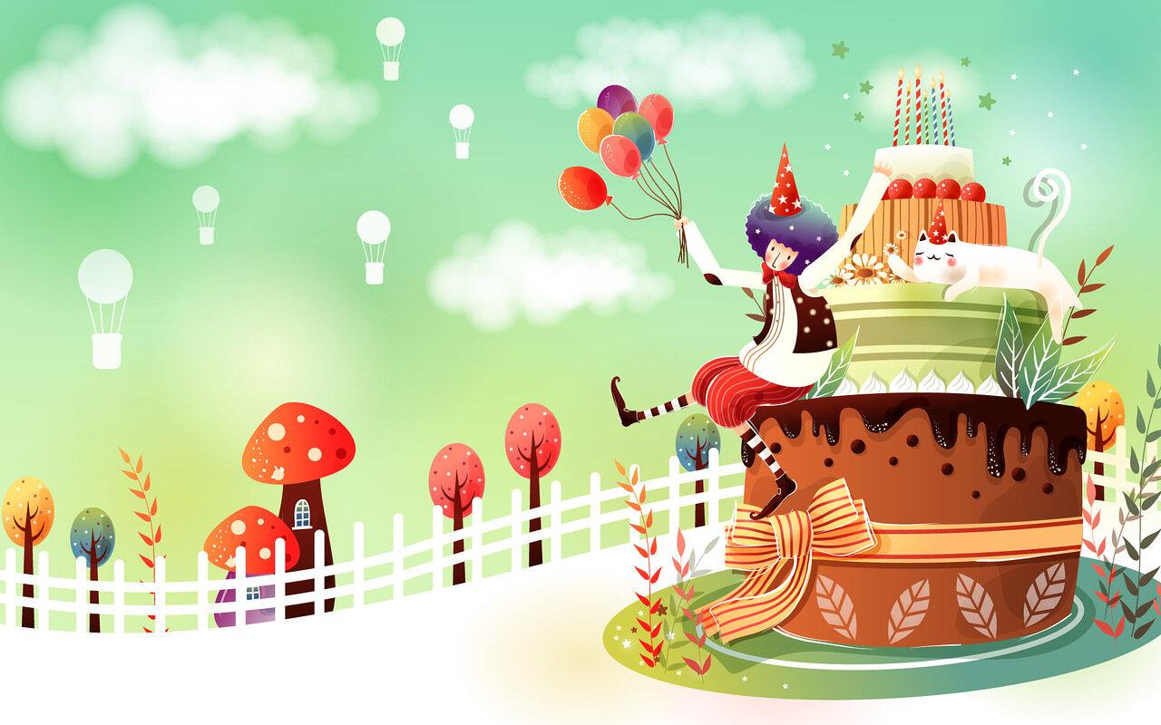 Картинки, фоны для открытки с тортом