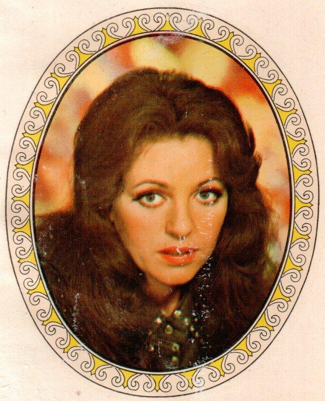 Переводная картинка из ГДР девушка Anna Jantar 1976
