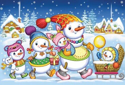 Снеговики желают всем счастья!
