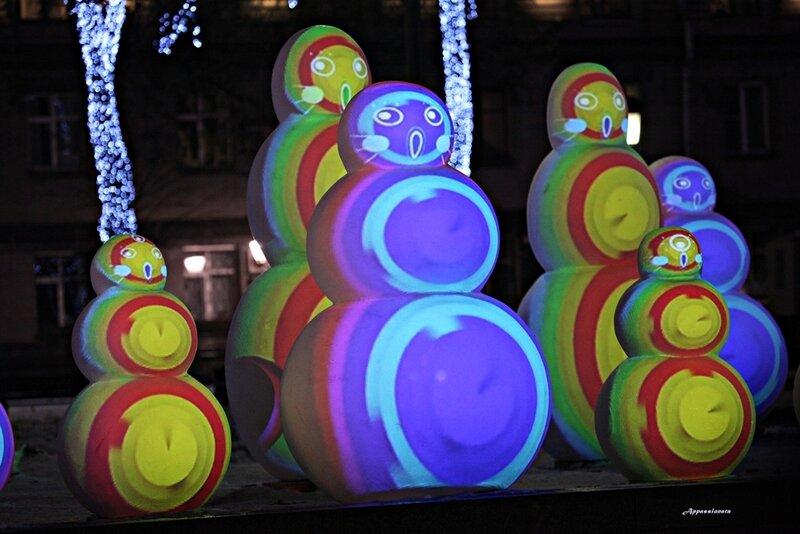 Снеговики на Московском бульваре