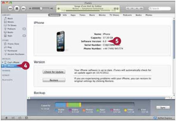 Проверьте номер версии операционной системы в разделе «Версия ПО»