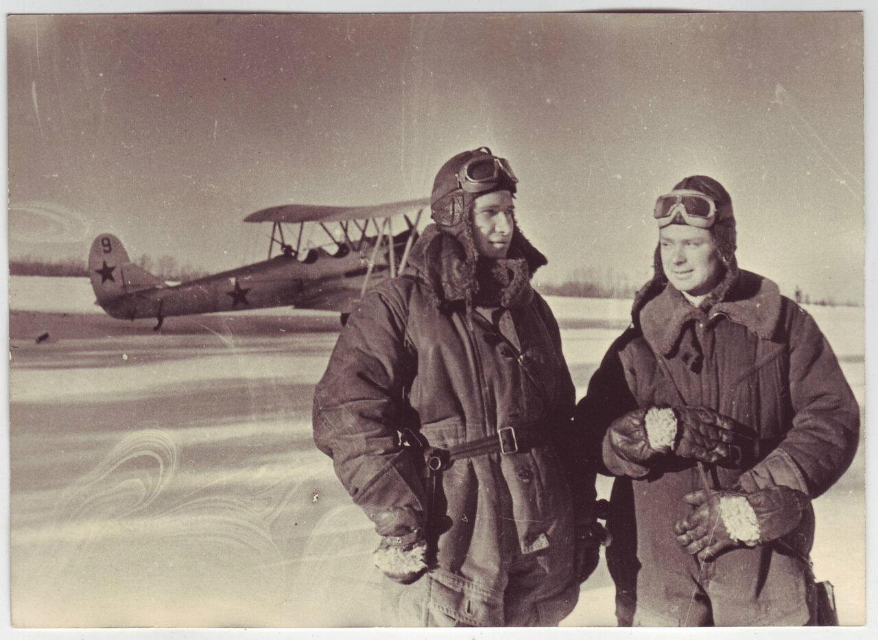 Пилоты в зимнем камуфляже