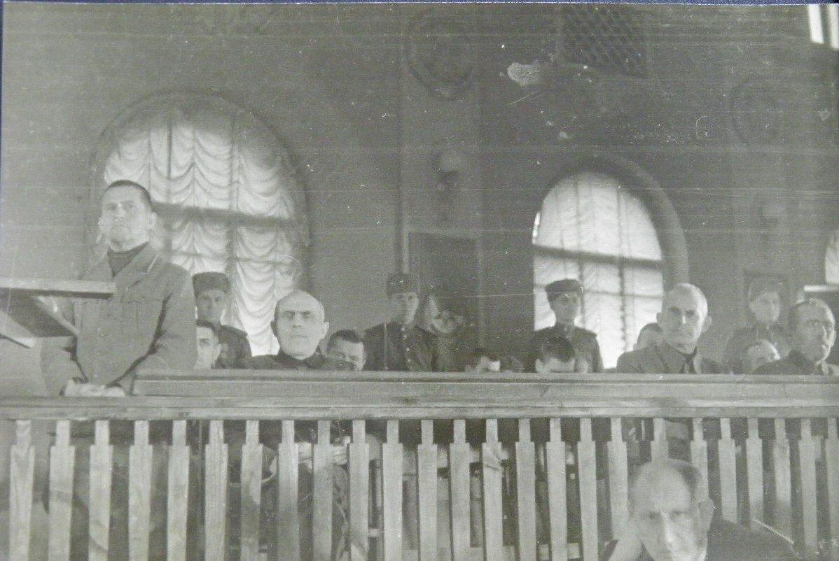 1946. Немецкие офицеры на суде в Киеве.
