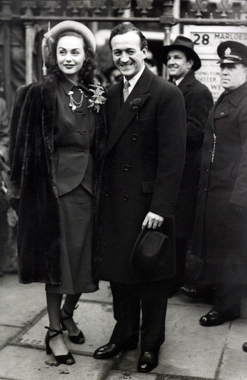 1948. Дэвид Нивен и Хьердис Терсмейден