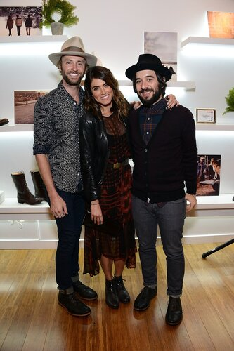 LOS ANGELES, CA - DECEMBER 12: Paul McDonald, Nikki Reed and Erik Kertes attend Timberland Acoustic Night In on December 12, 2013 in Los Angeles, California. (Photo by Araya Diaz/WireImage)