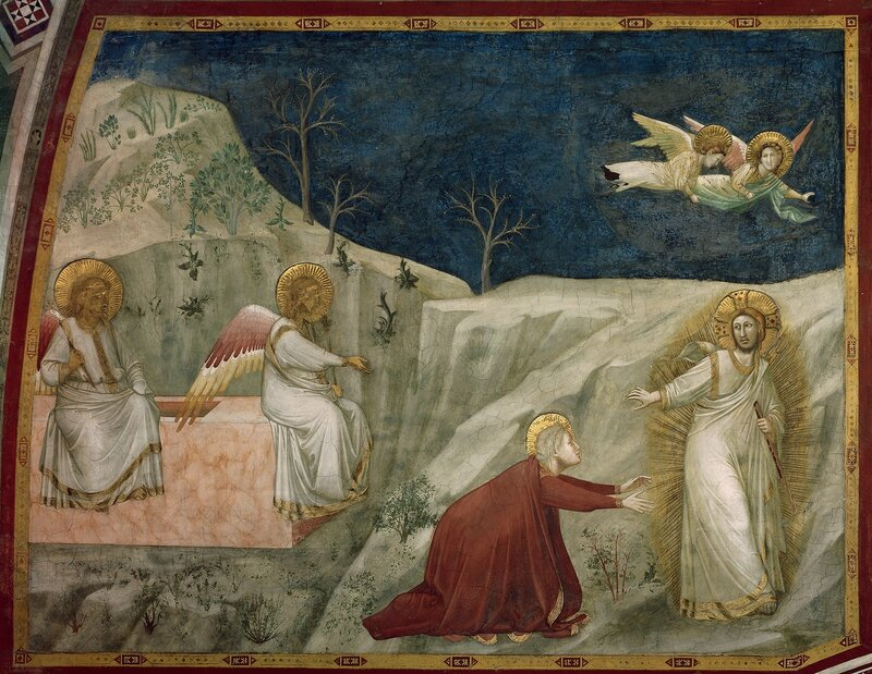 Attributed to Giotto   Title  Chapel of Mary Magdalene; Noli me tangere   Work Type  fresco   Date  First quarter of the 14th century   Location  San Francesco (Assisi, Italy