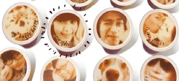 Печать портрета на кофейной пенке