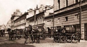 Закладка пожарного обоза. Санкт-Петербург.