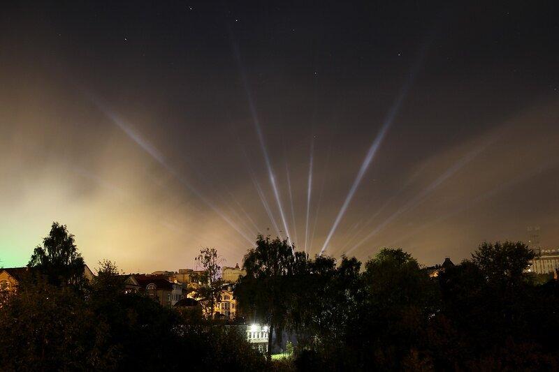 Ночные огни в небе и овраг Засора в Кирове IMG_7741