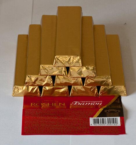 Золотой запас шоколадок Roshen