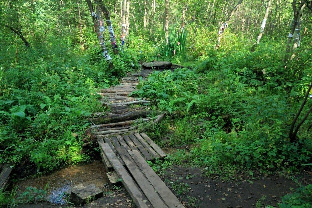 Мостик через ручеек и Киндяковский камень
