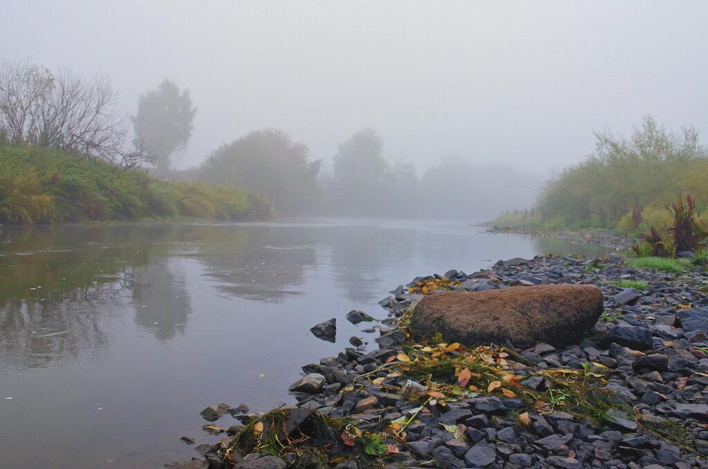 Таинственная река. Как я фотографировал пейзаж в тумане на любительскую зеркалку Nikon D5100 KIT 18-55.
