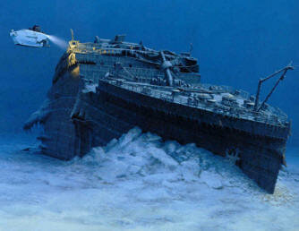 фото титаника на дне океана