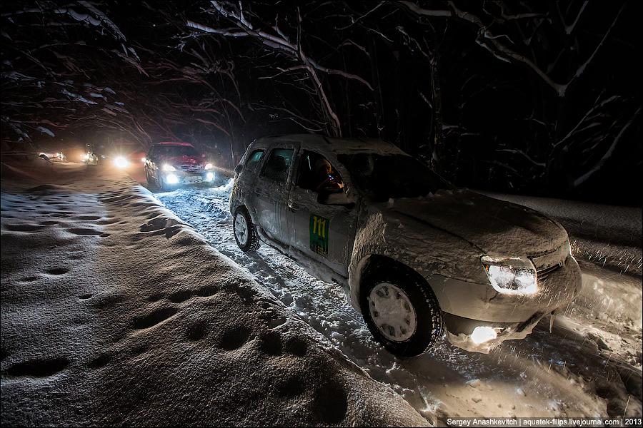 Зимние пробки в горах Крыма