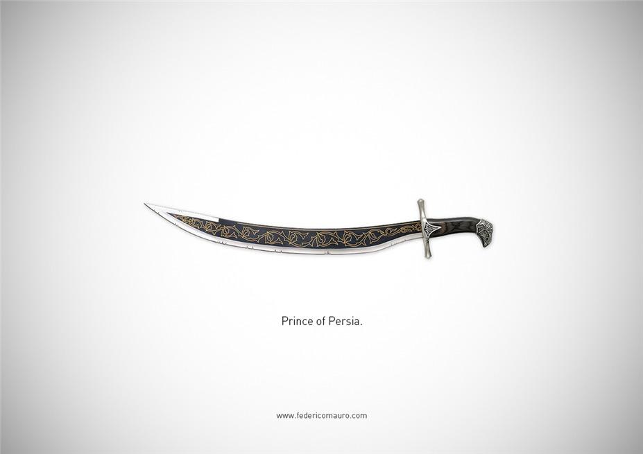 Знаменитые клинки, ножи и тесаки культовых персонажей / Famous Blades by Federico Mauro - Prince of Persia