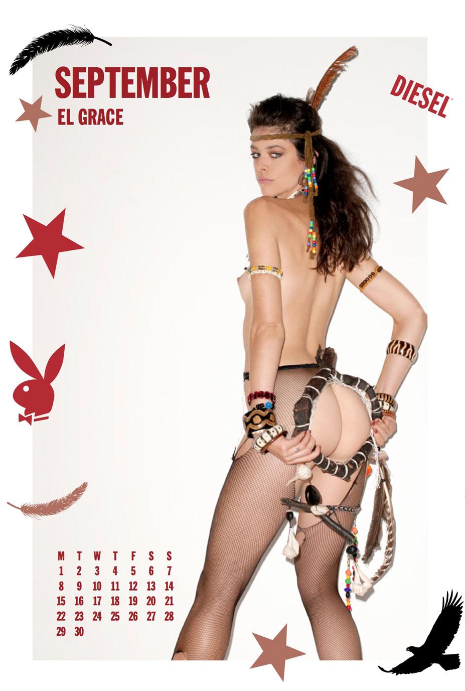 Playboy Diesel 2014 calendar by Terry Richardson