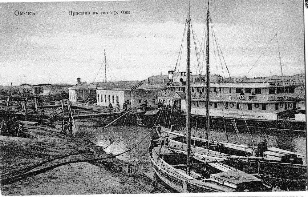 Омск. Пристани на реке Оми