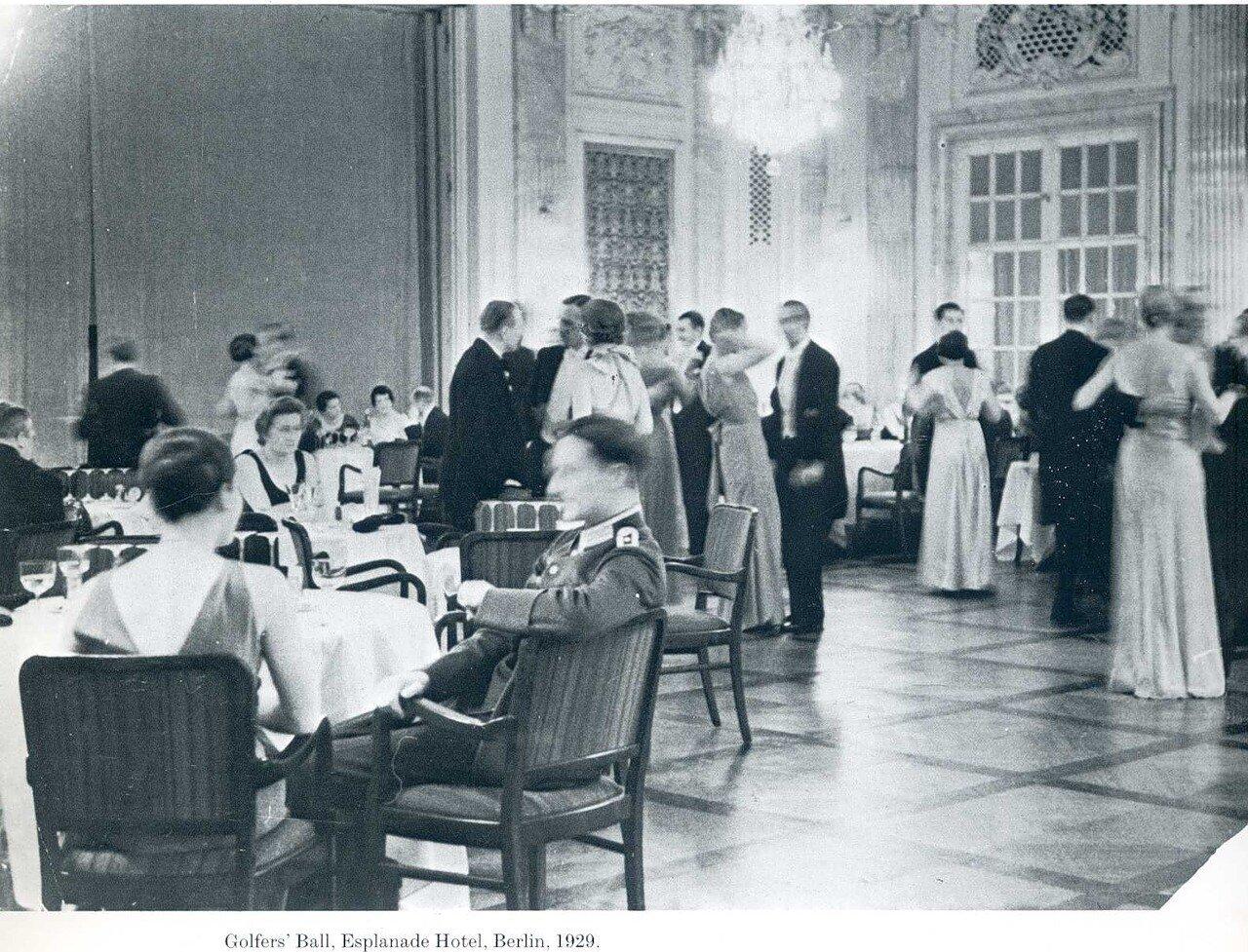 1929. Бал гольфистов. Отель Эспланада, Берлин