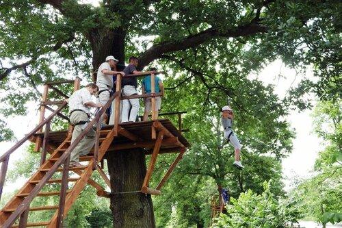 В Озерске открылся веревочный парк