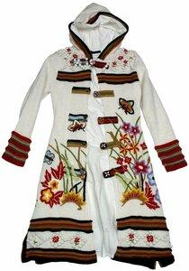 ...В ожидании Весны от Кензо. Вязаное пальто: спицы+вышивка Наши воплощения